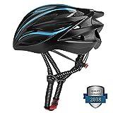 Six Foxes Fahrradhelm, Leichtgewicht Damen Herren Fahrradhelm Fahrrad Helm, Unisex Erwachsenen Specialized Rennradhelm mit 26 Belüftungsöffnungen, MTB helm fahrrad gr 55-63 (Blau)