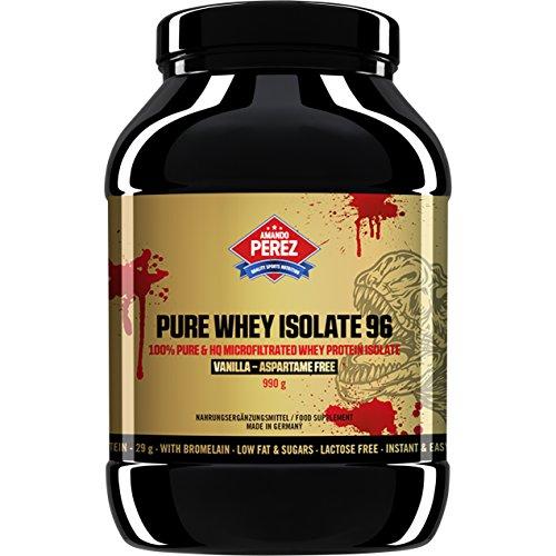 Vanille Pur Gesund (Pure Whey Protein Isolate 96 - 100% mikrofiltriert Whey Protein - 990 g (Vanille))