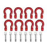Fibbia per Rimorchio Auto RC, 8 Pezzi Grillo di Trazione in Metallo Parti di Accessori per Auto Cingolate Rampicanti RC