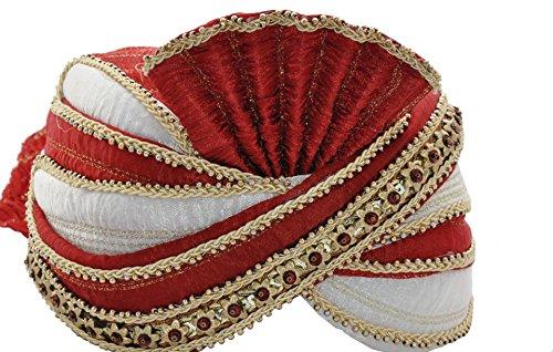 Egypt Bazar Indischer Maharaja-Turban- Paghdi Herren Bollywood Fasching Kopfbedeckung, Farbe: ()