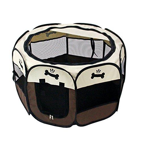 Mengma pets portable box pet pieghevole con custodia da trasporto pieghevole pet cage indoor/outdoor impermeabile rimovibile paralume copertura per cani/gatti/conigli