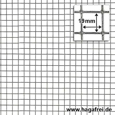 HAGAFREI Punktgeschweißtes Gitter Volierendraht verzinkt, 19x19x1,0mm, 50cm x 5m Rolle, Versandkostenfrei von HAGAFREI - Du und dein Garten