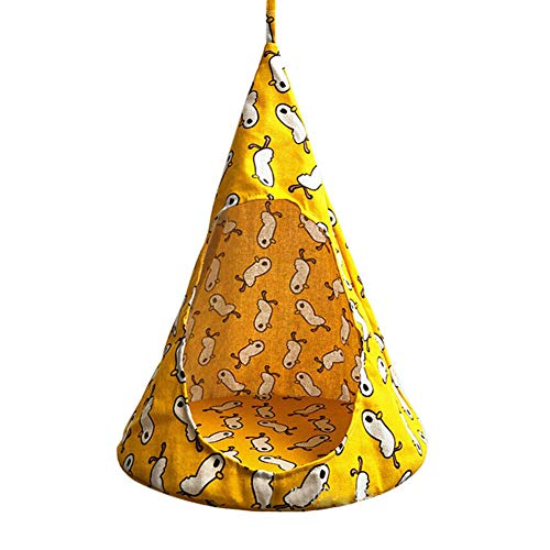 Alaojie Cute Removable Pet Hanging House Conical Hammock Washable Tent for Small Dogs Cats -