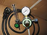Druckmanometer beheizbar Druckminderer Manometer für Argon und CO² Schweißen