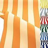 TOLKO Sonnenschutz CLASSIC Markisen-Stoff Meterware zum Nähen mit UV-Schutz 50+ | Wasserdicht, Extra Langlebig - ohne Ausbleichen, 120cm Breite (Ocker-Beige)