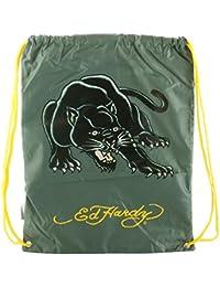 2a7421befd Ed Hardy Drew Drawstring Panther Bag -Asphalt Grey