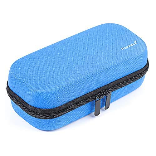 Hartschalen Insulin Kühltasche Diabetiker Tasche Temperaturanzeige kühler Boxen für Medikamente mit 3 Kühlakkus (Blau)