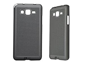 Loopee Heat Dissipation Hollow Ultra Thin Hard Back Case Cover for Samsung Galaxy Grand Prime G530 - Silver