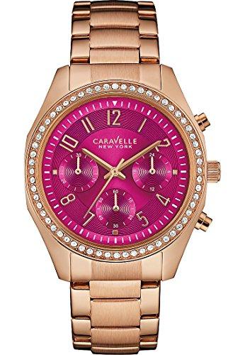 Caravelle New York Mujer Reloj De Pulsera Analógico Cuarzo One Size, Rosa, Rosé/Pink