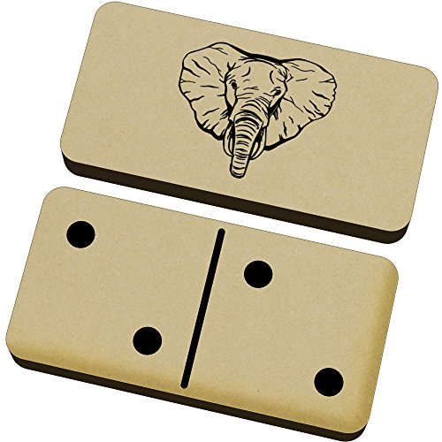 Azeeda 'Cara de Elefante' Domino Juego y Caja (DM00012418)