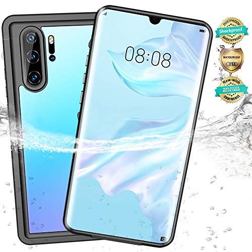 New-wish Huawei P30 Pro Hülle,IP68 Wasserdicht Handyhülle Stoßfest Staubdicht Schneefest Ultradünn Leicht Huawei hülle Display 360 ° Ganzkörperschutz Unterwassergehäuse Cases Full Body Schutzhülle