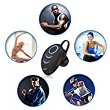 elecfan Kabellos Bluetooth Kopfhörer in Ear, Wireless Sport Kopfhörer Noise Cancelling Sweatproof Headphone mit Mikrofon für Galaxy S9 +/S8/Note8, iPhone X/8/7, Blau