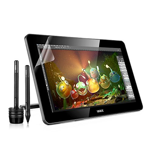 Ugee 15,6 Zoll HK1560 IPS Display Graphics Grafik Zeichnung süberwachung Tablette Drawing Tablet 5080 LPI mit 2x Wiederaufladbare Stift P50S