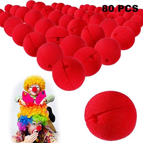 e Clown Nasen Schaum Clownnasen Cosplay Rote Clownnase für Halloween Weihnachten Kostüm Party ()