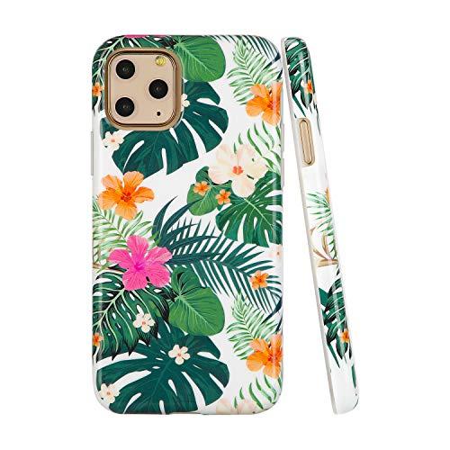 SunshineCases【Kompatibel: Apple iPhone 11 Pro】 schlanke, volle Hülle, süße Schutzhülle für Frauen und Mädchen, Tropical Jungle Floral
