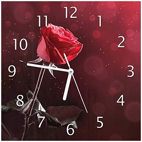 Wallario Glas-Uhr Echtglas Wanduhr Motivuhr • in Premium-Qualität • Größe: 30x30cm • Motiv:...