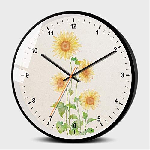 YCNCFA Horloge Murale,Acrylique Creative Horloge Murale Décoration De La Maison Horloge De Style Européen de Style Miroir Mur Coller Horloge C Décoration de la maison Pendules murales