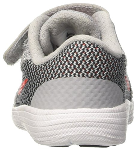 Nike Revolution 3 (Tdv), Chaussures de Tennis Mixte Enfant Gris (Wolf Grey/max Orange/black/white)