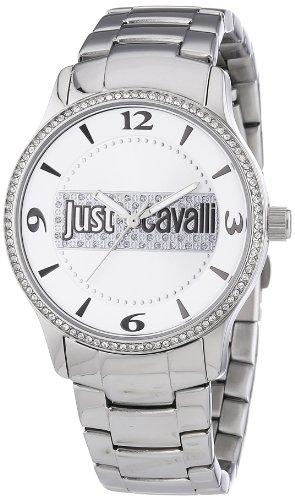 Just Cavalli R7253127502 – Reloj analógico de cuarzo para mujer con correa de acero inoxidable, color plateado