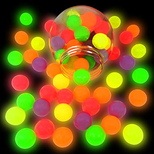 German Trendseller® 24 x Nachtleuchtende - Neon Flummi - Springbälle ┃ Mitgebsel ┃ Kindergeburtstag ┃ Extra Weich - Super Sprung - Kraft ┃ 24 Flummis