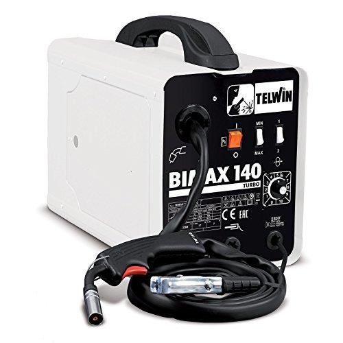 Telwin S.p.A. 821076 Bimax 140 Turbo Flux Und Mig-Mag Schweissgerät, 230 V, Weiß