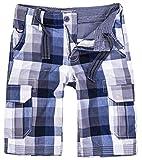 Rock Creek Herren Karoshorts Bermuda Hose CAGO-Shorts Sommer Hose kurz Shorts Herrenshorts H-158 L Grey3
