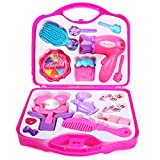 #9: Blossom Make-up Beauty Set with Hair Dresser & Accessories Toy for Girls, Pink
