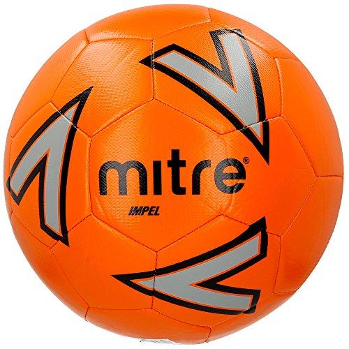 Mitre Impel Trainingsfußball, Orange/Silver/Black, 3