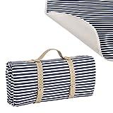 [casa.pro]® Picknickdecke - 200x147cm - mit wasserabweisender Rückseite + Tragegriff