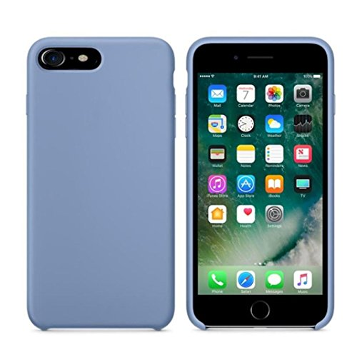 Cover per iPhone 7, Tpulling Custodia per iPhone 7 Case Cover Shell sottile della copertura di caso di cuoio di alta qualità per il iPhone 7 4.7 pollici (Red) light Blue
