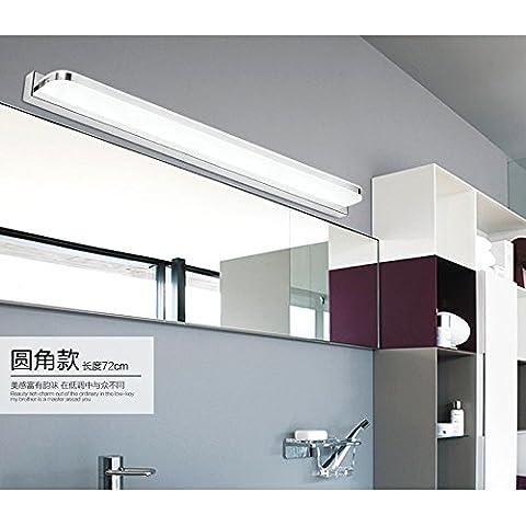 LYNDM Moderno bagno sintetica impermeabile Led luce Specchio specchio cosmetico in vetro camera da letto Lampada da parete comodino specchio di illuminazione luci anteriore,100cm 23w,bianco caldo (2700-3500K)(#JD-0946)