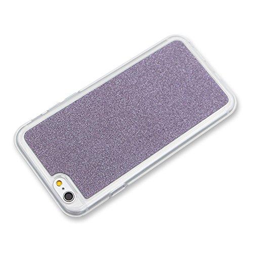 Für iPhone 7 4.7 Zoll Ultra Dünn Silikon Tasche,Für iPhone 7 4.7 Zoll Bling Glitter Schutz Hülle mit Liebe Herzen Ring Halter,Funyye Luxus [Herzen Ring Rosen-Gold Gradient Farbe] Sparkles Glänzend Gli Muster 5
