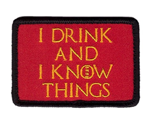 Titan One Europe Hook Fastener I Drink Know Things Lannister The Imp Tactical Morale Attitude Jacket Patch Attitude Morale Jacket Punk Patch Ich Trinke Und Weiß Dinge Klettband Taktish Aufnäher