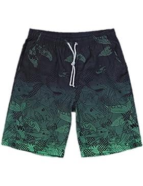 Los hombres cortos de secado rápido Masculina bañadores de Surf Board Shorts Boardshorts Natación troncos cortos...