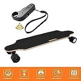 Bunao Elektro Longboard E Skateboard Elektrisches City Scooter Elektrolongboard mit Fernbedienung und Motor | Reichweite Ca. 10 km, Geschwindigkeit 20km/h (Schwarz 1)