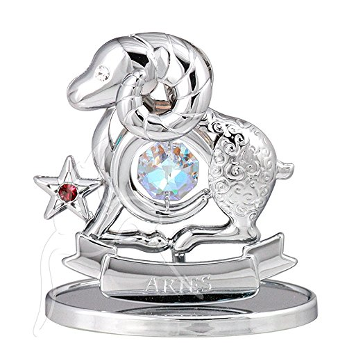 Segni zodiacali cristallo ornamenti regalo set crystocraft con swarovski elements keepsake new, aries