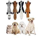 ZYZ Kit di Giocattoli per Cani di Peluche, durevoli e Morbidi Giocattoli per Cani Set Giocattolo di Peluche cigolante Fox Skunk Lion Giocattoli per Cani da Masticare Confezione da 3 Pezzi