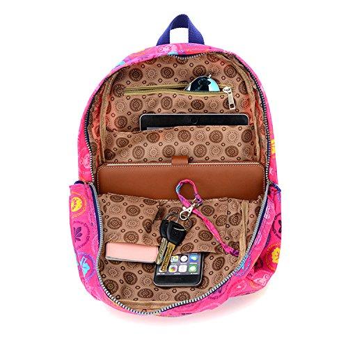 Outreo Rucksäcke Damen Schulrucksack Rucksack Wasserdicht Schul Daypack Leichter Schultaschen Lässige Tasche Backpack für Sport Reisetasche Rot 4