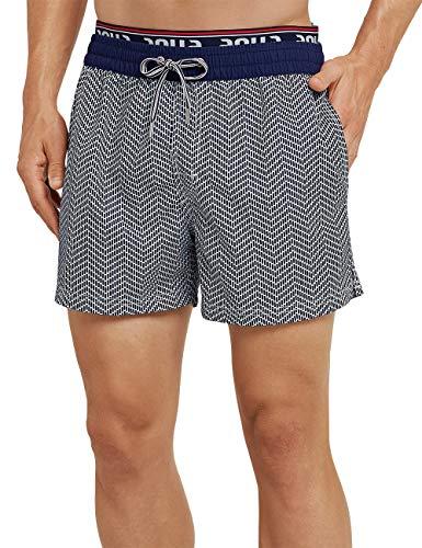 Schiesser Herren Aqua Beach Shorts, Blau (Admiral 801), Small (Herstellergröße: 004)