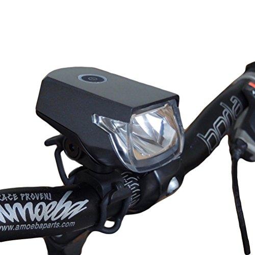 Luz de bicicleta recargable Roxim Raptor X3K CREE LED USB - extremadamente brillante y extensa. Destello delantero - Liviana - Durable - Para viajes complejos