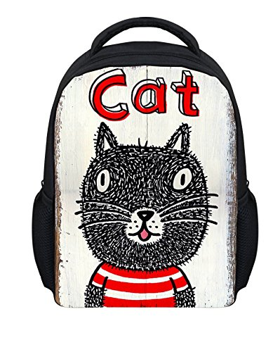 WHCREAT Multifunktions-Polyester-Jungen und Mädchen-Buch-Rucksack-Schulbeutel Katze 1