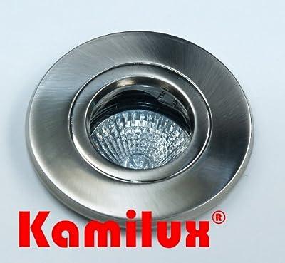 Feuchtraum Einbauleuchte Badspot Farbe Edelstahl-gebrstet Aqua Ip65 230v Mit Leuchtmittel Gu10 In 50 Watt von Kamilux GmbH
