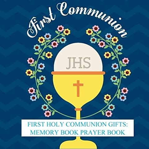 First Holy Communion Gifts: Memory Book Prayer Book and Gift Recorder with Photo Pages and Party Celebration First Communion Gifts for Boys in all ... Party Supplies, Balloons, Cake