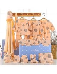 SHISHANG Set de 22 piezas Baby Gift Box Bebé puro algodón Suit Box Chico Chico Adecuado para 0-12 meses Caja de regalo para recién nacidos Pure Cotton (100%) Four Seasons Gift Package , 2 , 22