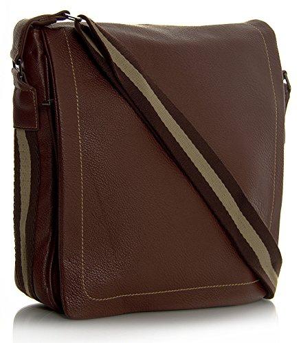 Big Handbag Shop Sac bandoulière unisexe en imitation cuir multipoches petite taille - Beige - Medium Tan, One Size
