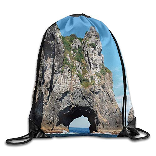 CSXKUL Cave Collection Stone Gorge and Pavilion Image Asian Faith Temple Architecture Grace Scenery Multi Drawstring Bags Rowing Backpack for Teens College - Cave Temple