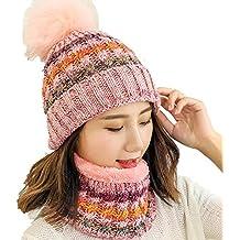 Amazon.it  cappello e sciarpa donna invernale - Rosa eb1f72654a79