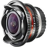 Walimex Pro 7,5 mm 1:3,8 VCSC Objectif photo/vidéo type Fish-Eye avec pare-soleil d'objectif fixe, lentilles en verre amélioré et IF Pour baïonnette d'objectif Micro Four Thirds Noir