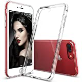 Cover iPhone 7, Ringke [FUSION] Crystal Clear PC Ritornare TPU [Goccia di Protezione / Shock Tecnologia ad Assorbimento] Cresciuto Protective Cover Custodia Bezels per Apple iPhone 7 2016 - Clear