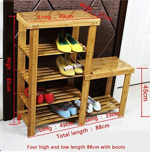 GRY Bambus für die hohen und niedrigen für den Lock Shoe Lock Speicher-Schemel-Hall-Eingang Schuh-Racks, zum des Schuh-Schemels zu tragen,88 * 27 * 85 cm -